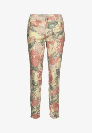 Trousers - coral flower