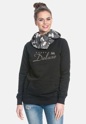 Hoodie - schwarz grau camouflage