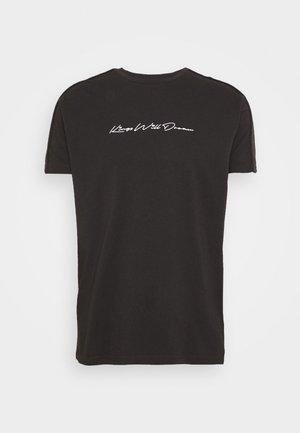 MLORTON - Print T-shirt - black