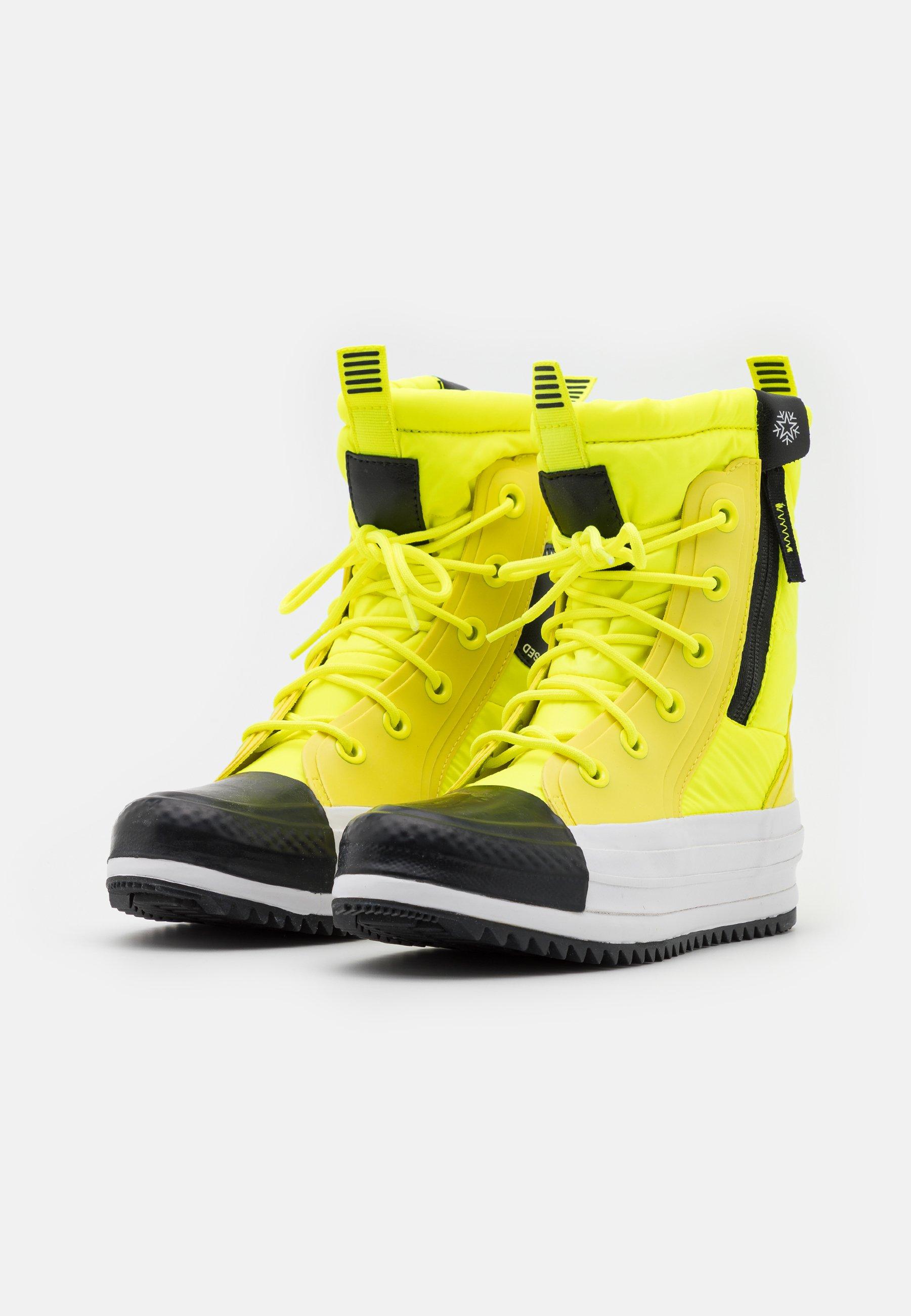 Converse CHUCK TAYLOR ALL STAR BOOT Snowboot/Winterstiefel lemon/black/white/neongelb