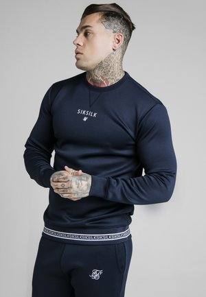 ELEMENT CREW - Long sleeved top - navy/white