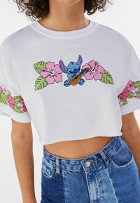 Bershka - Print T-shirt - white - 3