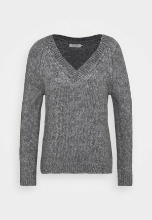 ONLBENIN V NECK - Svetr - medium grey