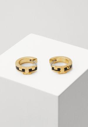 KIRA STACKABLE HUGGIE HOOP EARRING - Korvakorut - gold-coloured/black
