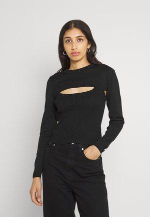 ONLPEACH PEEK A BOO - Pullover - black