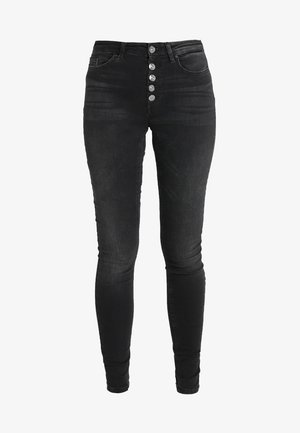 ONLBLUSH BUTTON - Jeans Skinny Fit - black denim