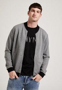 Phyne - veste en sweat zippée - dark grey - 0