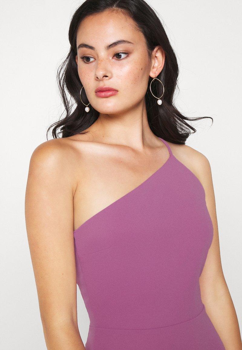 FRILL HEM MIDI DRESS - Cocktailkleid/festliches Kleid - mauve pink