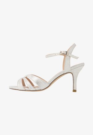 WIDE FIT HAIGAR - High heeled sandals - silver