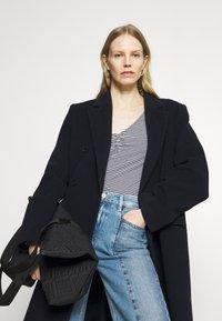 Anna Field - Long sleeved top - dark blue/white - 4
