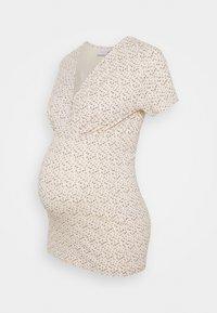 MAMALICIOUS - MLFIA 2 PACK - Print T-shirt - whitecap gray - 1