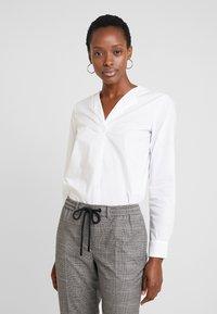 Marc O'Polo DENIM - PANTS CHECK - Trousers - light grey - 3