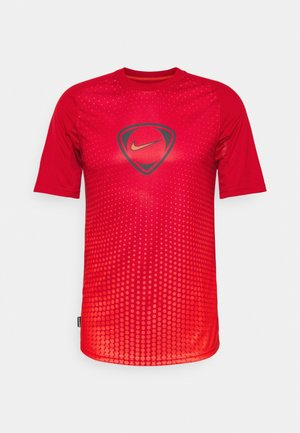 ACADEMY - Print T-shirt - gym red/chile red/chile red