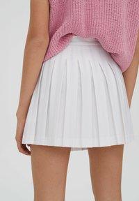 PULL&BEAR - Spódnica trapezowa - white - 5