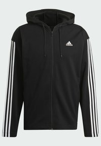 adidas Performance - ADIDAS SPORTSWEAR RIBBED INSERT TRACKSUIT - Survêtement - black - 7
