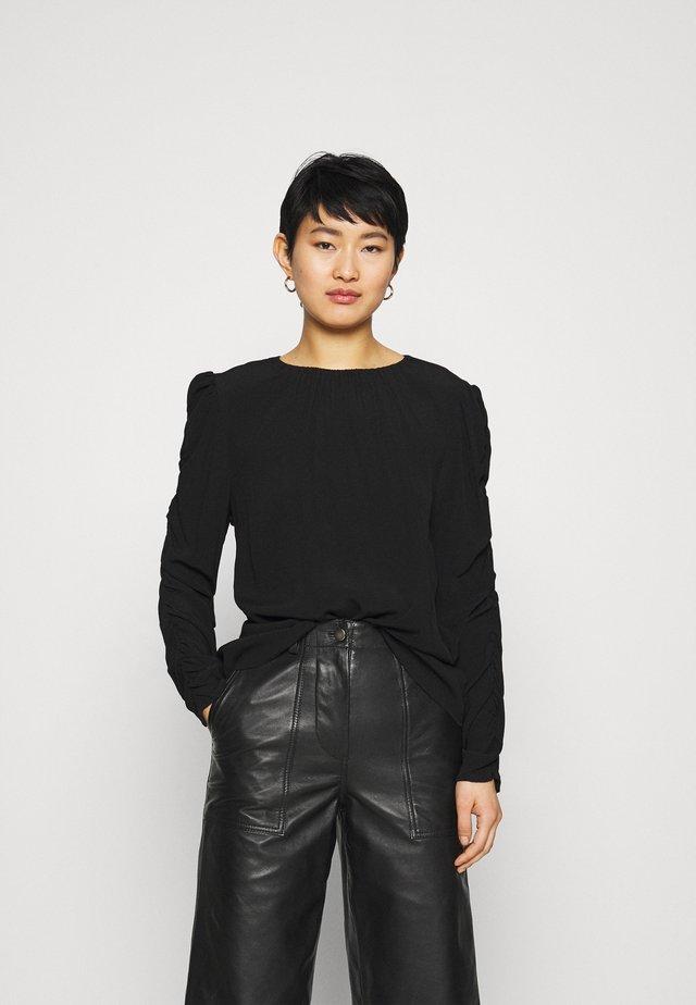 BLOUSE BRANDY - Langærmede T-shirts - black