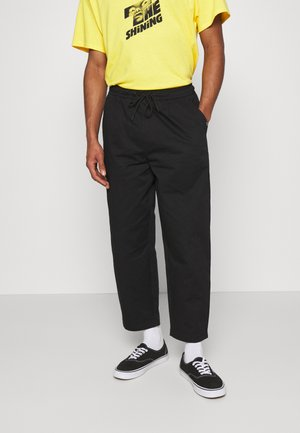 ELASTIC WAISTBAND BAGGY TROUSERS - Trousers - black