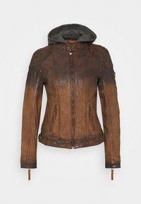 CASCHA LAMOV - Leather jacket - antic brown