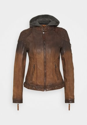 CASCHA LAMOV - Leather jacket - antic brown