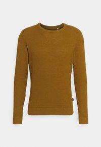KARLO STRUCTURED CREW NECK - Sweter - breen