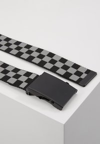 Urban Classics - ADJUSTABLE CHECKER BELT - Skärp - black/grey - 3