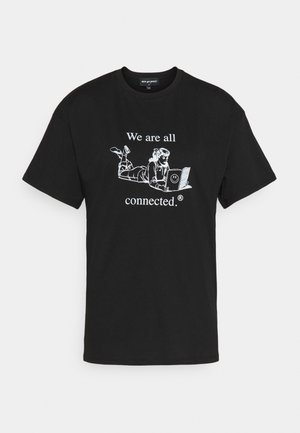 ALL CONNECTED TEE - T-shirt imprimé - black