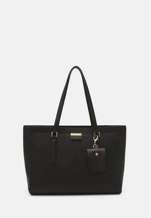 TEAWEN SET - Handbag - jet black/light gold-coloured
