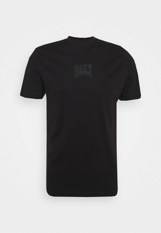 TONAL TEE UNISEX - T-shirt print - black
