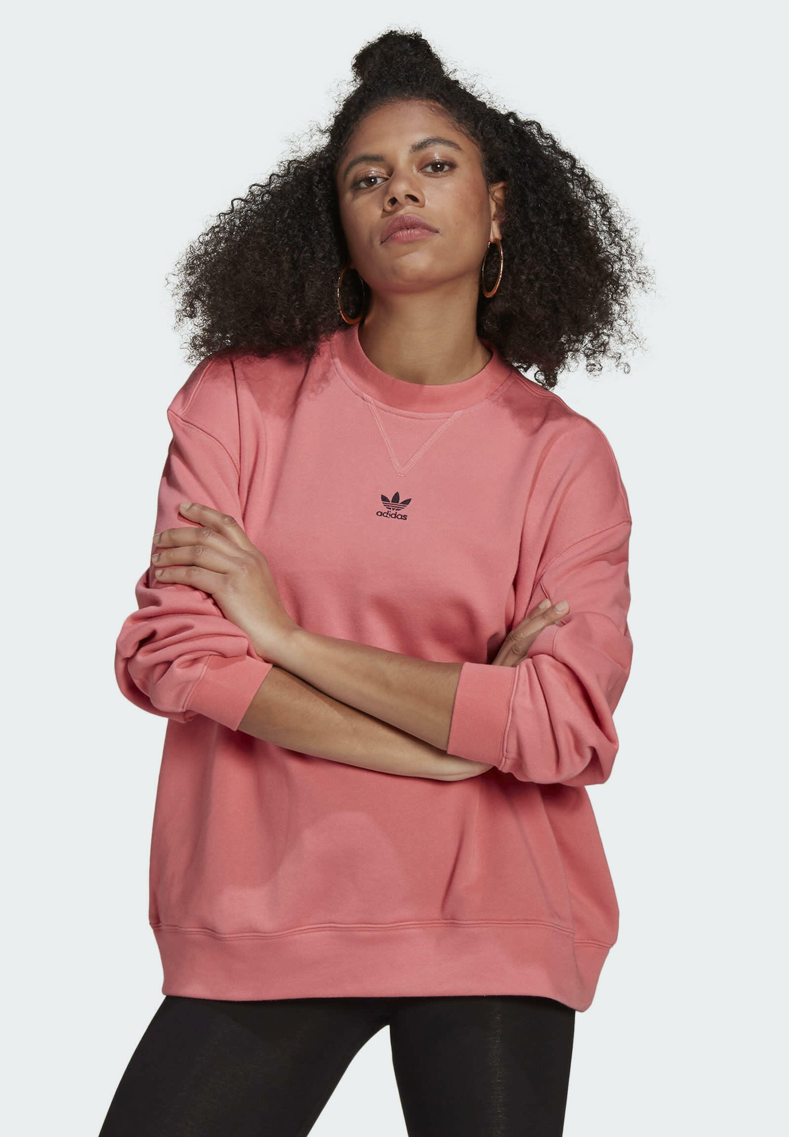 Women SWEATSHIRT TREFOIL ESSENTIALS ORIGINALS REGULAR PULLOVER - Sweatshirt