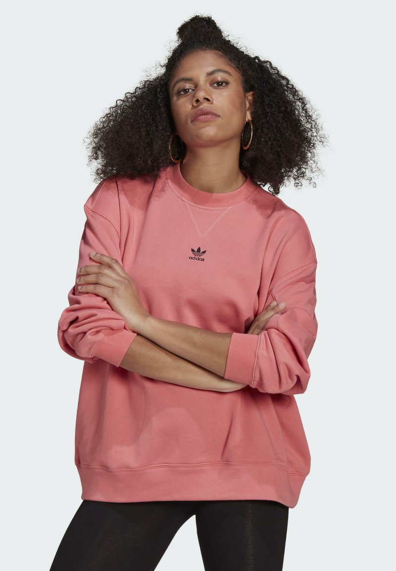 adidas Originals - SWEATSHIRT TREFOIL ESSENTIALS ORIGINALS REGULAR PULLOVER - Felpa - pink