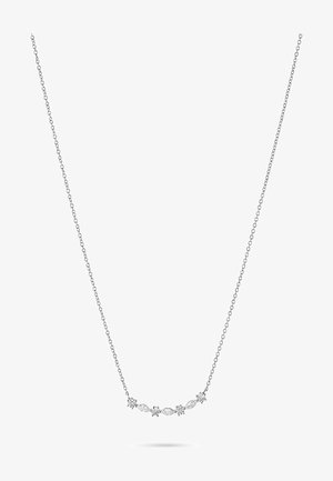 DAMEN-KETTE SILBER 4 ZIRKONIA - Necklace - silber