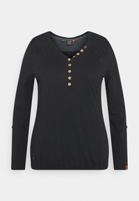 Ragwear Plus - PINCH SOLID PLUS - Top sdlouhým rukávem - black - 6