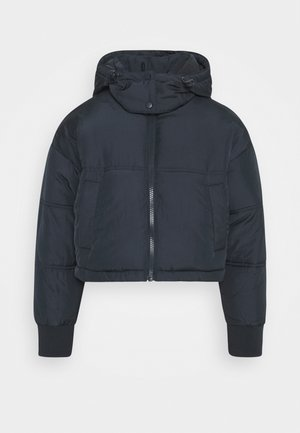 LUCY CROPPED HOODED PUFFER - Winter jacket - navy