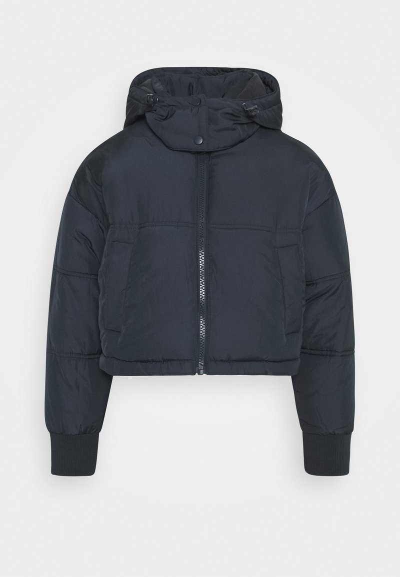 Topshop Petite - LUCY CROPPED HOODED PUFFER - Winter jacket - navy