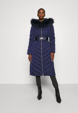 SOFIA LONG JACKET - Down coat - blue jam