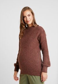Anna Field MAMA - Pullover - brown - 0