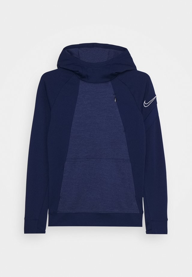 DRY ACADEMY HOODIE - Mikina skapucí - blue void/white