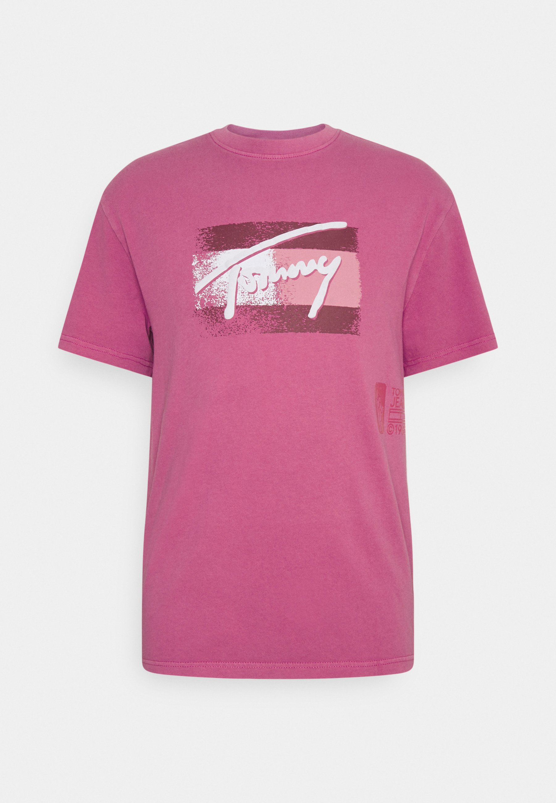 Femme FADED FLAG SCRIPT TEE UNISEX - T-shirt imprimé