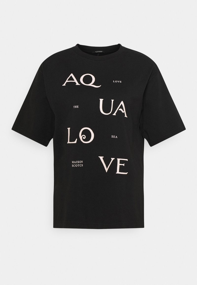 Scotch & Soda - TEE WITH POSTER GRAPHIC - Print T-shirt - black