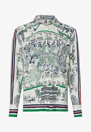 Button-down blouse -  florida print
