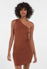 Bershka - Jerseykleid - brown - 0