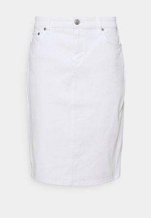 BULL SKIRT - Denim skirt - white wash