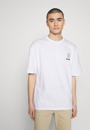 JCOHEAT TEE CREW NECK - Camiseta estampada - white