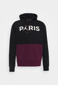 Nike Performance - PARIS ST GERMAIN FLC HOODIE - Klubbkläder - black/bordeaux/metallic gold/white - 5