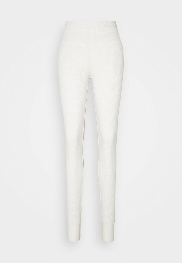 LOUNGE TROUSERS FREJA - Pyjamabroek - light beige melange