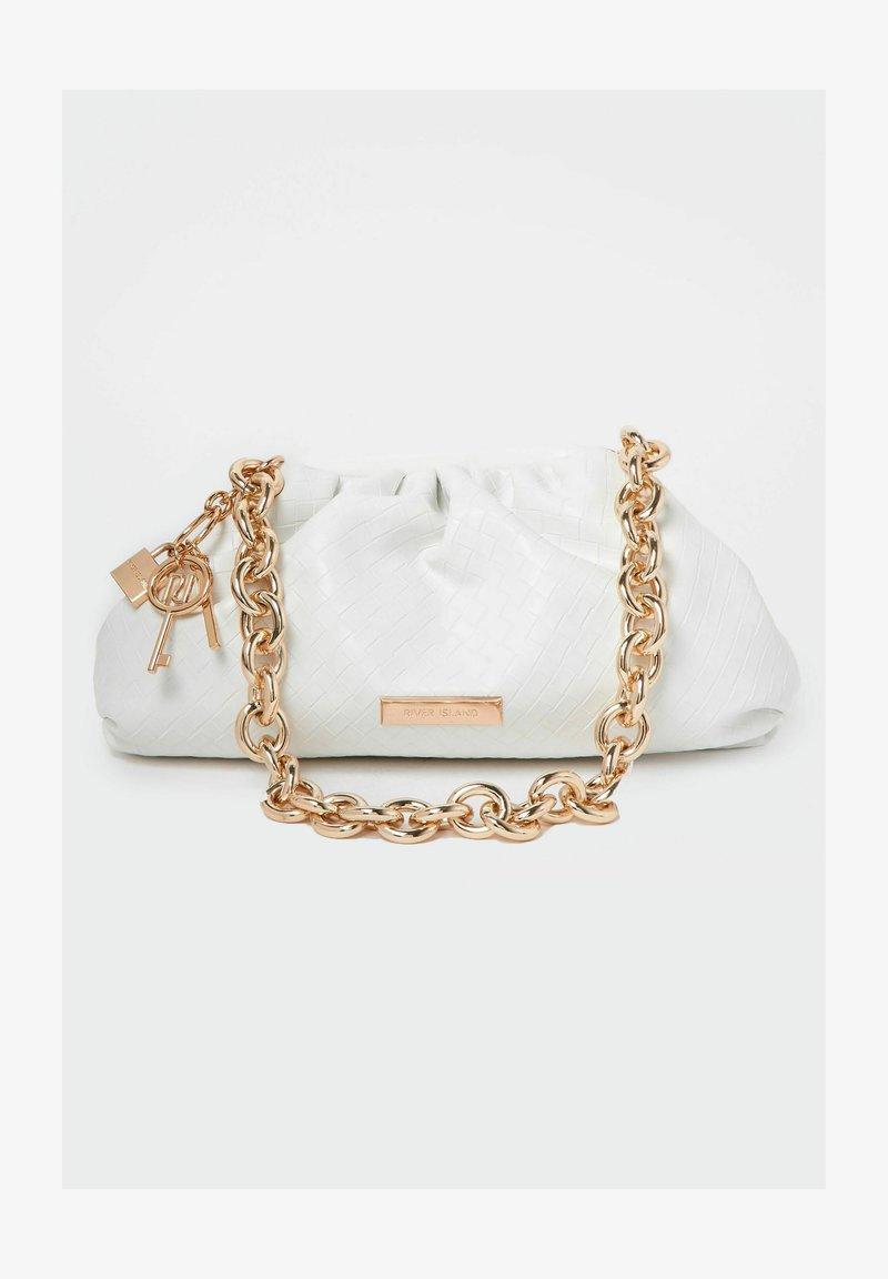 River Island - CHUNKY CHAIN - Handbag - white