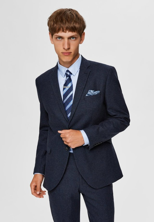 SLIM FIT - Blazer jacket - medium blue melange