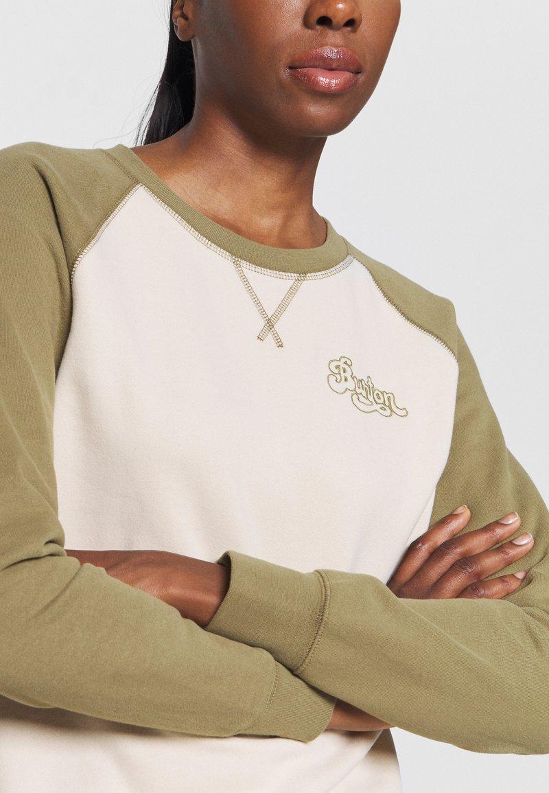 Burton - KEELER CREW - Bluza - khaki