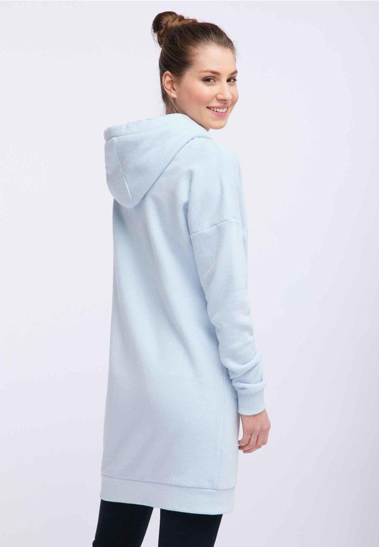 New Arrival Fashion Women's Clothing myMo MIT METALLICPRINT Day dress mottled light blue wk8X0zRDK