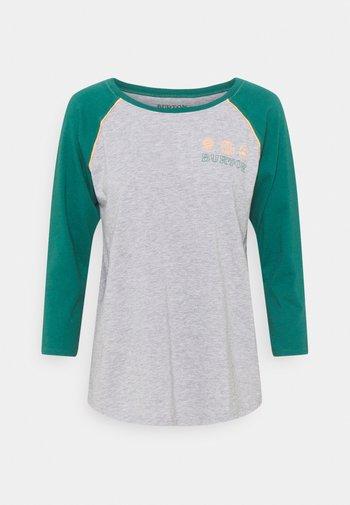 CARATUNK RAGLAN - Long sleeved top - GREY HEATHER/ ANTQGN